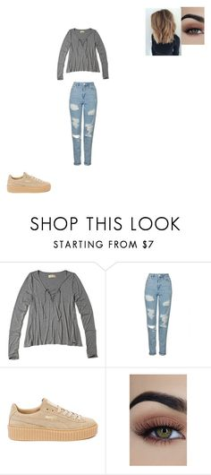 """""""Untitled #728"""" by melissaperez427 on Polyvore featuring Hollister Co., Topshop and Puma"""