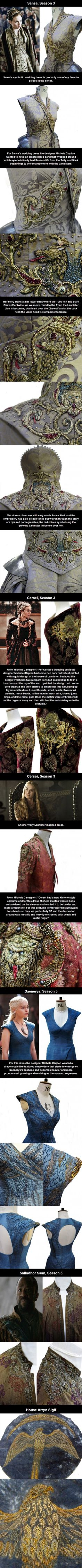 Stunning Game of Thrones Costume Embroidery by Michele Carragher
