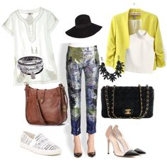 A fashion look from August 2014 featuring embroidered top, cropped shirts and Yellow Jacket. Browse and shop related looks. Crop Shirt, Fashion Looks, Night, Yellow, Day, Polyvore, Jackets, Shirts, Image