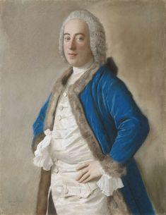 Portret van Joseph Bouër, koopman te Genua, Jean-Etienne Liotard, 1746