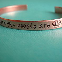 i wanna be where the people are <3 little mermaid bracelet