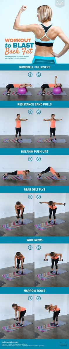 Ladies, bring sexy back and banish annoying bra bulge and back fat for good with these key moves. The area between the armpits and chest tends to get neglected, resulting in the pesky bulge that appears around a bra, bathing suit, or tank top. The following exercises will not only help tone your back muscles, but prevent injuries and pain as well. For the full workout visit us here: http://paleo.co/backfatworkout