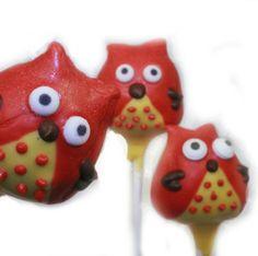 Chi Omega style Cake Pops! by Faye's Cake Pops