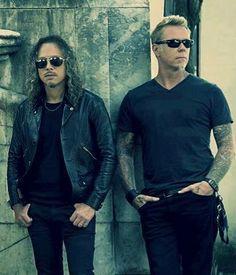 Kirk Hammett James Hetfield <3