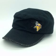 9a046d034fc Minnesota Vikings NFL Football Ball Mao Cadet Cap Hat Reebok Onfield S M  black