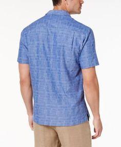 Tommy Bahama Men's Getaway Grid Shirt - Purple 3XL
