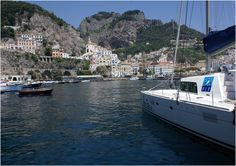 Docked in the Port of Amalfi, Italy