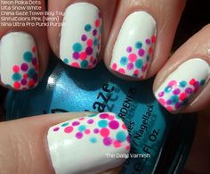 I would use the same design on white, but all different colored polka dots (yellow, blue, red, purple, etc.)