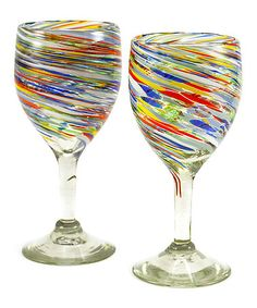 Another great find on #zulily! Carnival Wine Glass - Set of Two #zulilyfinds