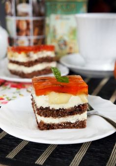 Ciasto z kremem budyniowym i bananami Dessert Drinks, Cheesecake, Cooking Recipes, Food, Cheesecakes, Chef Recipes, Essen, Meals, Eten