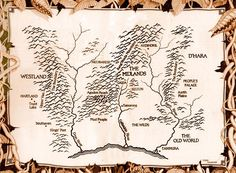 The New World Map from The Sword of Truth series by Terry Goodkind Fantasy Places, Fantasy Map, Fantasy Books, Wicked Book Series, Legend Of The Seeker, Roman Fantasy, New World Map, Sword Of Truth, Terry Goodkind