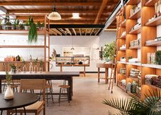 Sawmill Market, by Islyn Studio, merges reclaimed materials with local design objects to create a space indicative of the state's diverse cultural heritage.