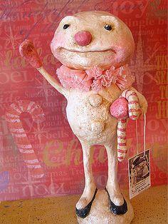 my papier mache pink sno boy.