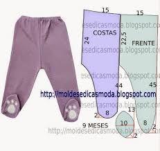 Resultado de imagem para moldes roupas de bebe em soft