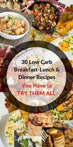 30 Low Carb Diet Recipes You Have to Try | 10 Recipes for Each Meal | Recipes | Weight Loss Food | Weight Loss Recipes | Healthy Meals | Weight Loss Snack Recipes | Weight Loss Dinner Recipes | Weight Loss Dessert Recipes | Weight Loss Low Carb Recipes | Weight Loss Lunch Recipes | Weight Loss Breakfast Recipes | ARoadtoTravel.com via @ARTTLifestyle