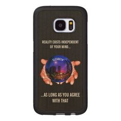 Change Your Reality Esoteric Mystic Magic Globe Wood Samsung Galaxy S7 Case