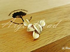 One Piece of 34x20mm CAN MOVE Premium Gold Plated Brass Base Charm Link Leaf AG000098 by Argentbead on Etsy
