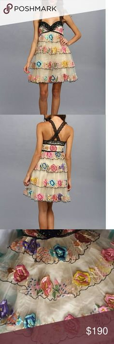 Free People Ramble Rose Dress You will feel like a beautiful candy land princess in this dress. I bought this off of Posh NWT and wore it once to a wedding. Received many many compliments. Absolutely stunning and true to size. Trying to make the money back to buy yet another beautiful FP dress. Open to trade for FP dresses similar in price. Free People Dresses