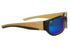 Gafas de madera Soniapew, linea de deporte. 100% ecológicas, hechas artesanalmente con madera de bambú. Lentes polarizadas-espejadasIce Blue, proteccion 100% UVA Gafa graduable. varilla flex, hipoalergénica, ligera para todo tipo de deporte. Resistente al agua, Flota