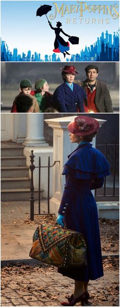 Emily Blunt appears as Mary Poppins in first photo from Disney. Walt Disney Studios has released on social media the first photo of British actress Emily Blunt as the iconic nanny Mary Poppins. Mary Poppins Film, Emily Blunt Mary Poppins, Mary Poppins 2018, Mary Poppins Disfraz, Mary Poppins Costume, Mary Poppins Halloween, Julie Andrews, Disney Movies, Disney Pixar