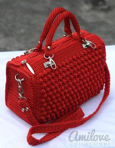 ergahandmade: Crochet Bag + Diagram + Step By Step Tutorials