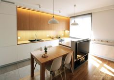 THREE COLOURS aranżacja mieszkania 52 m2 - Kołodziej & Szmyt