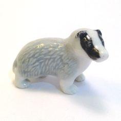 Wade Whimsie: Badger Figurine First Whimsie by JanetsVintageStore
