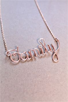 Family Necklace Mom Necklace any Word or Name Mom Gift by DiAndDe