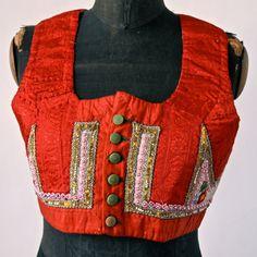 Czech Vest Roses on Snow Moravian Antique Gypsy by prettyinprague, $158.00