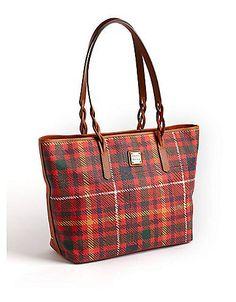 Dooney & Bourke Tartan Shopper Tote Bag