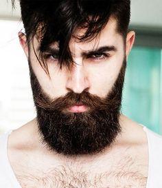 Full #Beard with Long #Mustache or #Bandholz Beard Design for Men #meninbeard #bearddesign #bearded