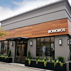 University Village | Bonobos Cafe Shop Design, Coffee Shop Interior Design, Shop Front Design, House Design, Restaurant Exterior Design, Cafe Exterior, Decoration Restaurant, Retail Architecture, Facade Design