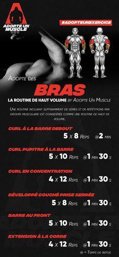 Adopte des bras avec la routine de haut volume #splt #bras #biceps #triceps #curl #routine #prog #programme #fitness #musculation #exercice #exercices