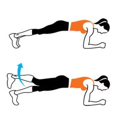 plank with leg lift! Good workout for ya booty!