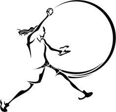 softball art | Softball Pitcher Design Royalty Free Stock Vector Art Illustration