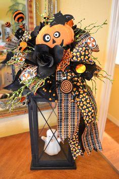 Pumpkin Head Halloween Lantern Swag. $38.00, via Etsy.