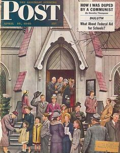 The Saturday Evening Post April 16 1949 Cover by Stevan Dohano Vintage Americana