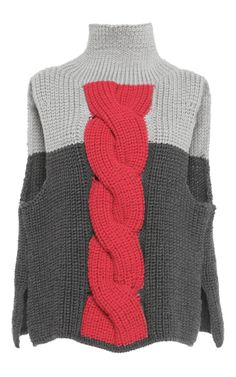 Cable Knit Front Pullover by Vika Gazinskaya for Preorder on Moda Operandi
