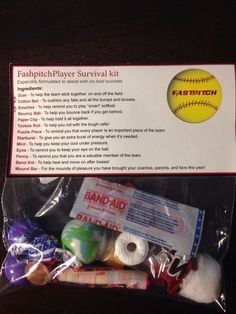 I want to this this year for my softball team⚾️ Softball Goodie Bags, Softball Treats, Softball Team Gifts, Senior Softball, Softball Party, Softball Drills, Softball Quotes, Softball Pictures, Girls Softball