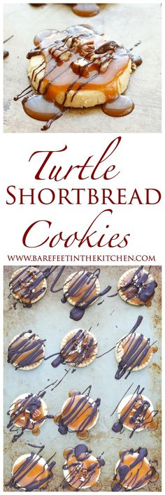 Turtle Shortbread Cookies take just a few minutes to make!