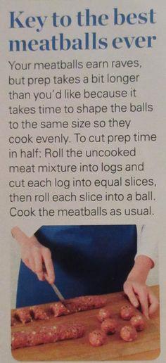 Even meatballs