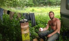 Mark Boyle outside his caravan. I live without cash – and I manage just fine