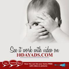 See it work with video on 10dayads.com #FreeVideoAds #PostFreeVideoClassifiedInUSA