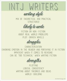 INTJ Writers & How Personality Affects Writing Style