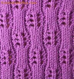 ribbed knitting stitches Domino
