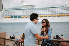 Francia and Alex's Beautiful Sydney Proposal - this look!?  How amazing to have this photo
