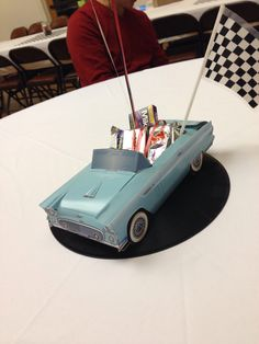 Centerpieces for my dad's 60th classic car birthday party