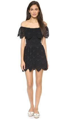 Nightcap Clothing Riviera Lace Fir & Flare Dress