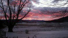 Winter sunset. Lexington, Virginia