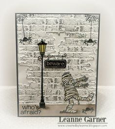 Created By Leanne: Who's Afraid?  This is fantastic!  So glad I got the CTMH Moonlight WOTG!